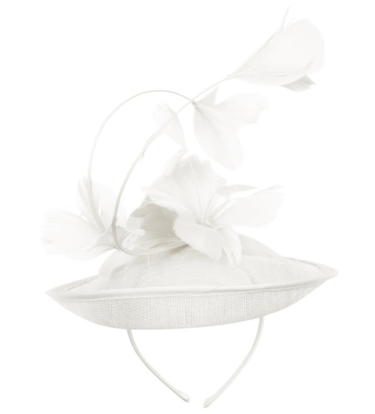Wholesale Bulk Pack Sinamay Fascinator With Flower On The Top-GDP1798