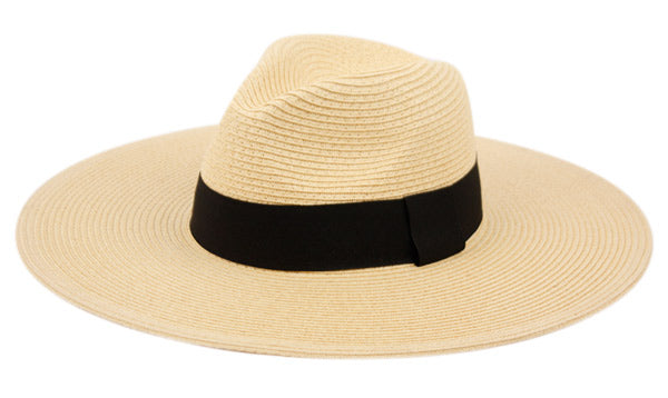 Wholesale Bulk Pack Wide Brim Braid Paper Straw Panama Floppy Hats-GDP3430