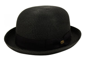 Wholesale Bulk Pack Braid Straw Bowler Hats With Grosgrain Band-GDP3478