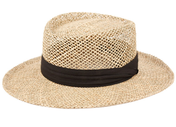 Wholesale Bulk Pack Gambler Straw Hats With Grosgrain Band-GDP3415