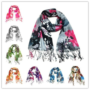 Wholesale Bulk Pack Lots 12-Pack Floral Scarves GD F2