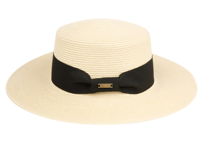 Wholesale Bulk Pack Braid Paper Straw Boater Hats W/Black Band-GDP3510