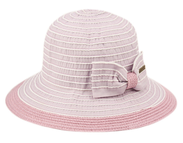 Wholesale Bulk Pack Vintage Style Sun Bucket Hats With Ribbon Bow Tie-GDP1223