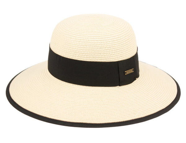 Wholesale Bulk Pack Paper Straw Sun Bucket Hats W/Grosgrain Band & Fabric Edge-GDP1338
