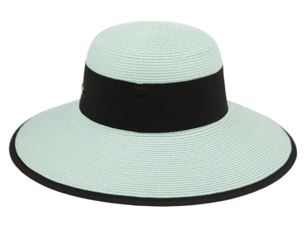 Wholesale Bulk Pack Paper Straw Sun Floppy Hats W/Grosgrain Band & Fabric Edge-GDP1325