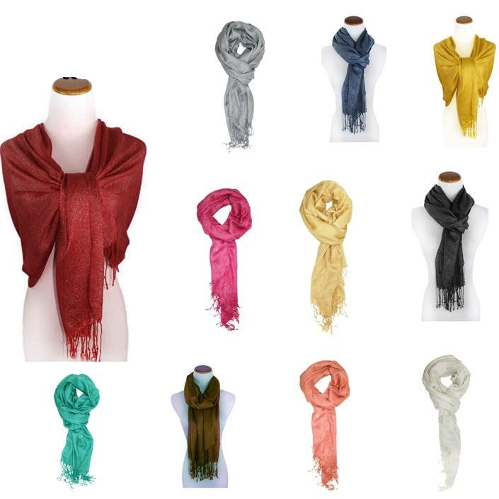 Wholesale Bulk Pack Light Weight Metallic Scarf-GDP882