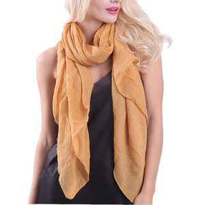 Wholesale Bulk Pack Solid Color Large Size Lightweight Scarf Rust-GDP870