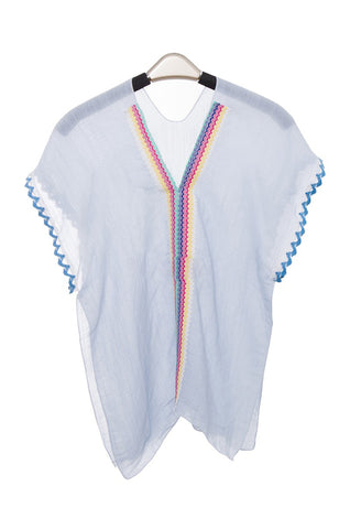 Wholesale Bulk Pack Super Light Plain Color Topper / Cover-Up / Poncho with Whip-stitched Hems on Sleeves for Children-GDP3669