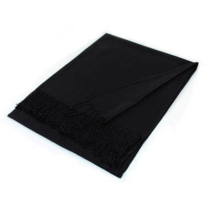 Wholesale Black Solid Pashmina Scarf-GDP3811-In Bulk Pack