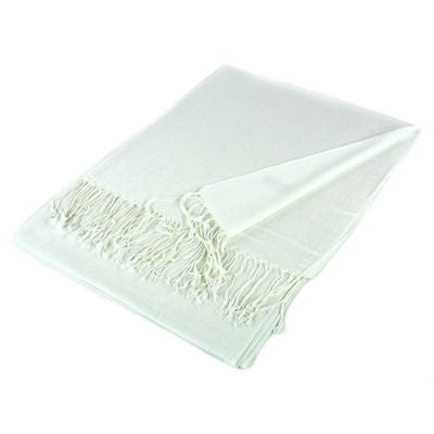 Wholesale White Solid Pashmina Scarf-GDP3809