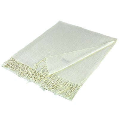 Wholesale Off White Solid Pashmina Scarf-GDP3807