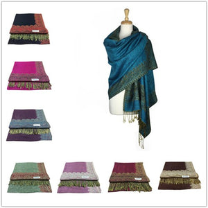 Wholesale Bulk Pack Pashmina 12-Pack Assorted Colors-GDP1597