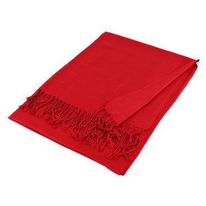 Wholesale Red Solid Pashmina Scarf-GDP3805