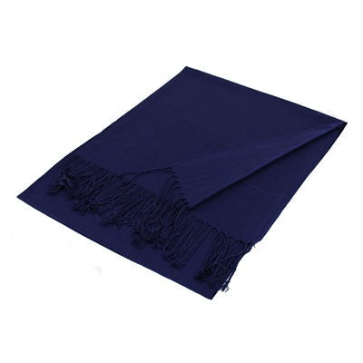 Wholesale Navy Blue Solid Pashmina Scarf-GDP3803