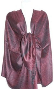 Wholesale Light Burgundy Paisley Pashmina Scarf-GDP1613