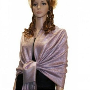 Wholesale Bulk Pack Light Paisley Pashmina Scarf-Misty Rose-GDP1651