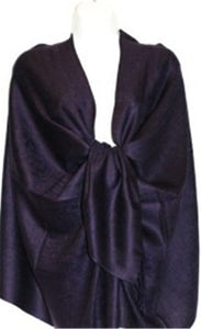 Wholesale Ink Purple Paisley Pashmina Scarf-GDP1621-In Bulk Pack