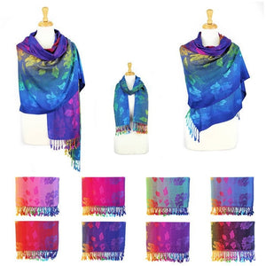 Wholesale Bulk Pack Pashmina Colorful Shawls 12-pack Assorted Colors-GDP1567