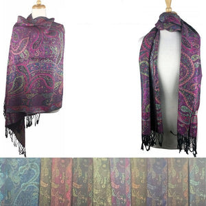 Wholesale Bulk Pack Pashmina 12-pack Assorted Colors-GDP1549