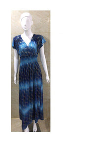 Wholesale Bulk Pack Plus Size Maxi Dress Ruffle Sleeve-GDP4440