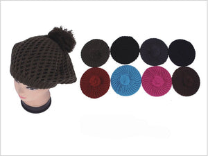 Wholesale Bulk Pack 2 Layer Knit Beret-GDP4042