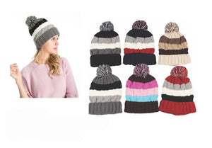 Wholesale Bulk Pack Heavy Knit Hats With Sherpa Lining-GDP4026