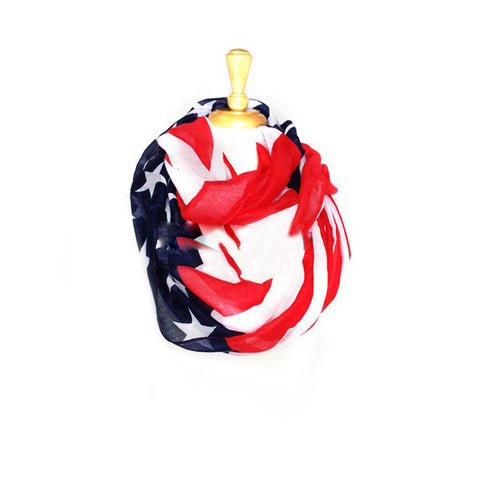 Wholesale Bulk Pack Patriotic American Flag Infinity Scarf GD6039-1