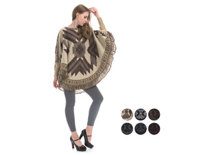 Wholesale Bulk Pack Poncho Sweater-GDP4296