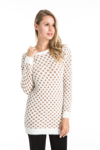 Wholesale Bulk Pack 2 Tone Long Sleeve Sweater Dress-GDP4181