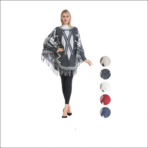 Wholesale Bulk Pack Poncho Sweater-GDP4286
