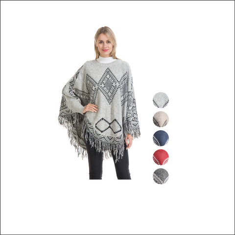 Wholesale Bulk Pack Poncho Sweater-GDP4284