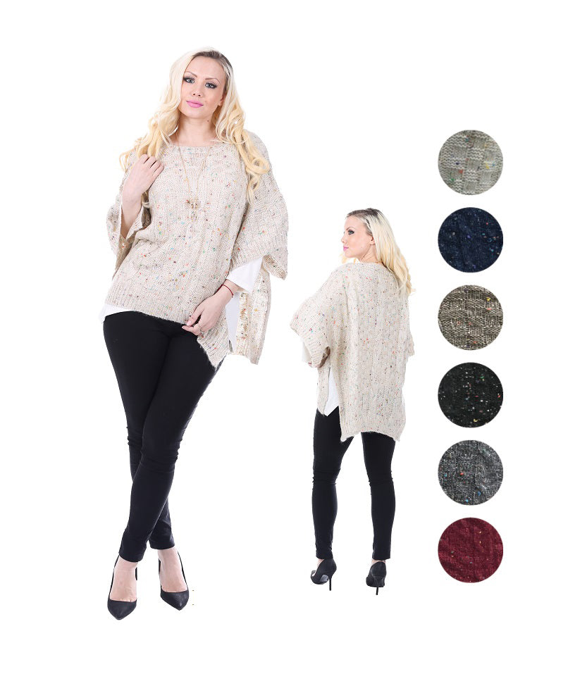 Wholesale Bulk Pack Poncho Sweater-GDP4290