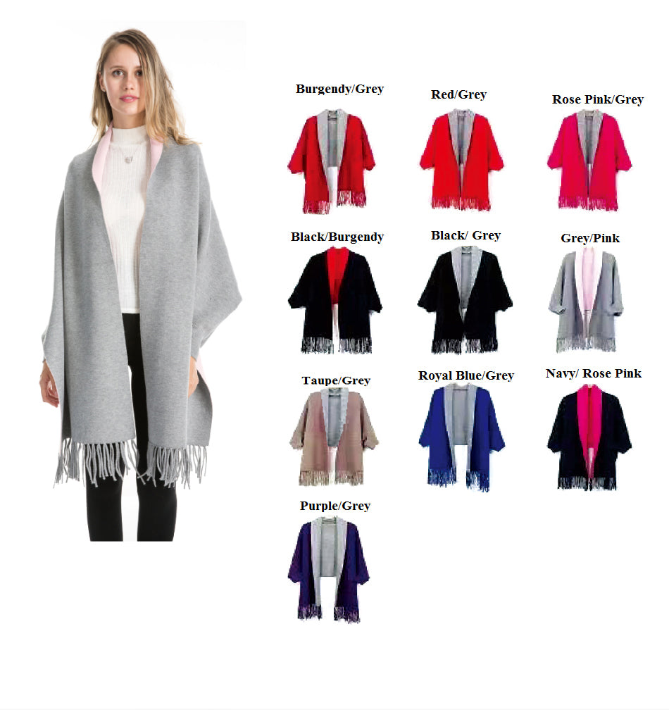 Wholesale Bulk Pack 2 Tone Cape with Sleeves-GDP4262