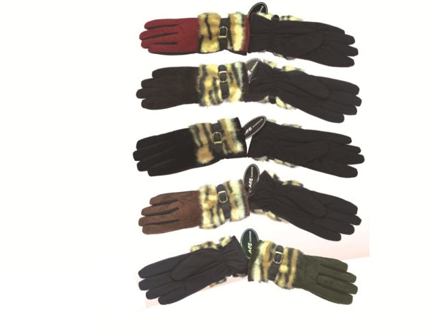 Wholesale Bulk Pack Gloves With Faux Fur-GDP4102