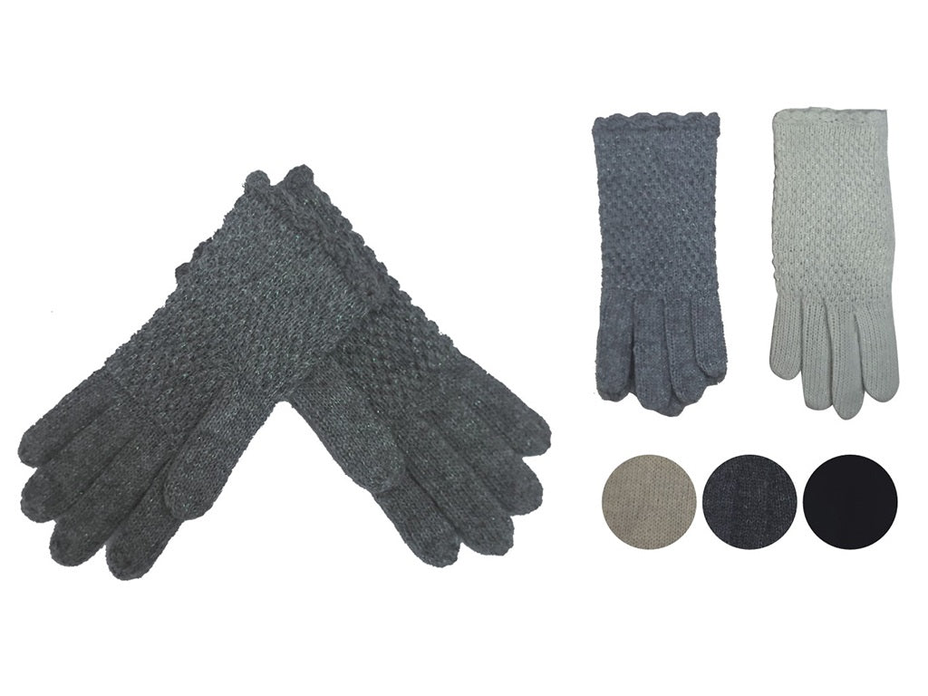 Wholesale Bulk Pack Fashion Thick Knitted Cotton Gloves-GDP4051