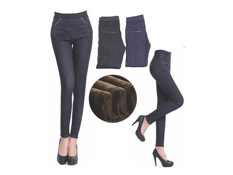 Wholesale Bulk Pack Women's Thick Faux Fur Lined Leggings-GDP4221