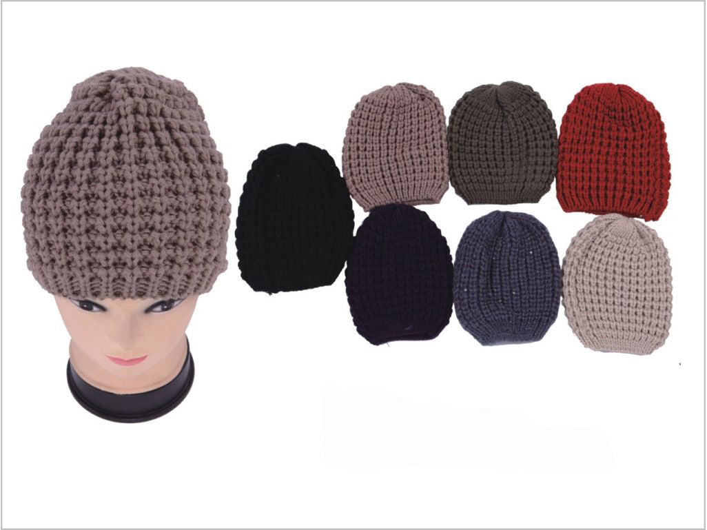 Wholesale Bulk Pack Heavy Knit Hats-GDP3987