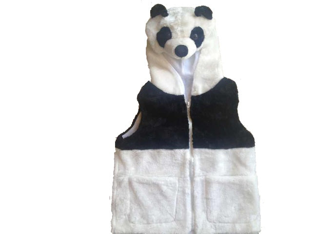 Wholesale Bulk Pack Vest With Panda Hoody For Kids-GDP4135