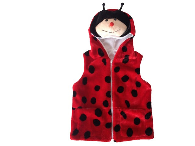 Wholesale Bulk Pack Vest With Ladybug Hoody For Kids-GDP4133