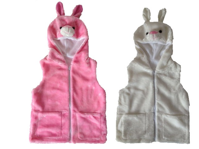 Wholesale Bulk Pack Vest With Rabbit Hoody For Kids-GDP4131