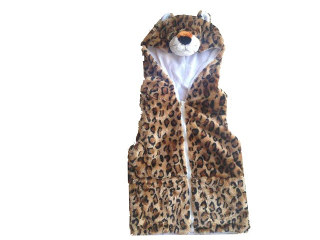 Wholesale Bulk Pack Vest With Leopard Hoody For Kids-GDP4129
