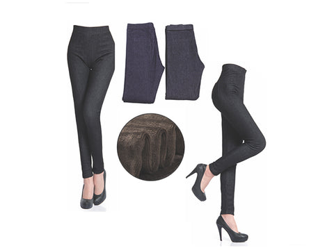 Wholesale Bulk Pack Women's Thick Faux Fur Lined Legging-GDP4185