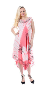 Wholesale Bulk Pack Rayon Tie Dye Dress Assored Colors-GDP4548