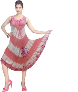 Wholesale Bulk Pack Rayon Tie Dye Dress Assored Colors-GDP4546