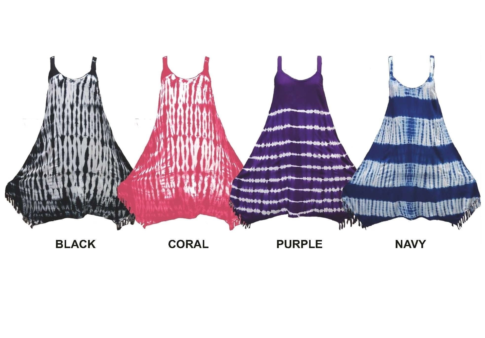 Wholesale Bulk Pack Rayon Tie Dye Dress-GDP4498