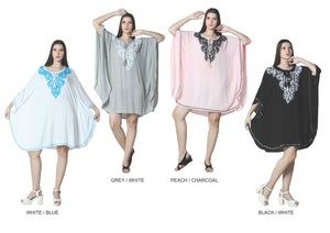 Wholesale Bulk Pack Rayon Solid Caftan Style with Embd.-GDP4360