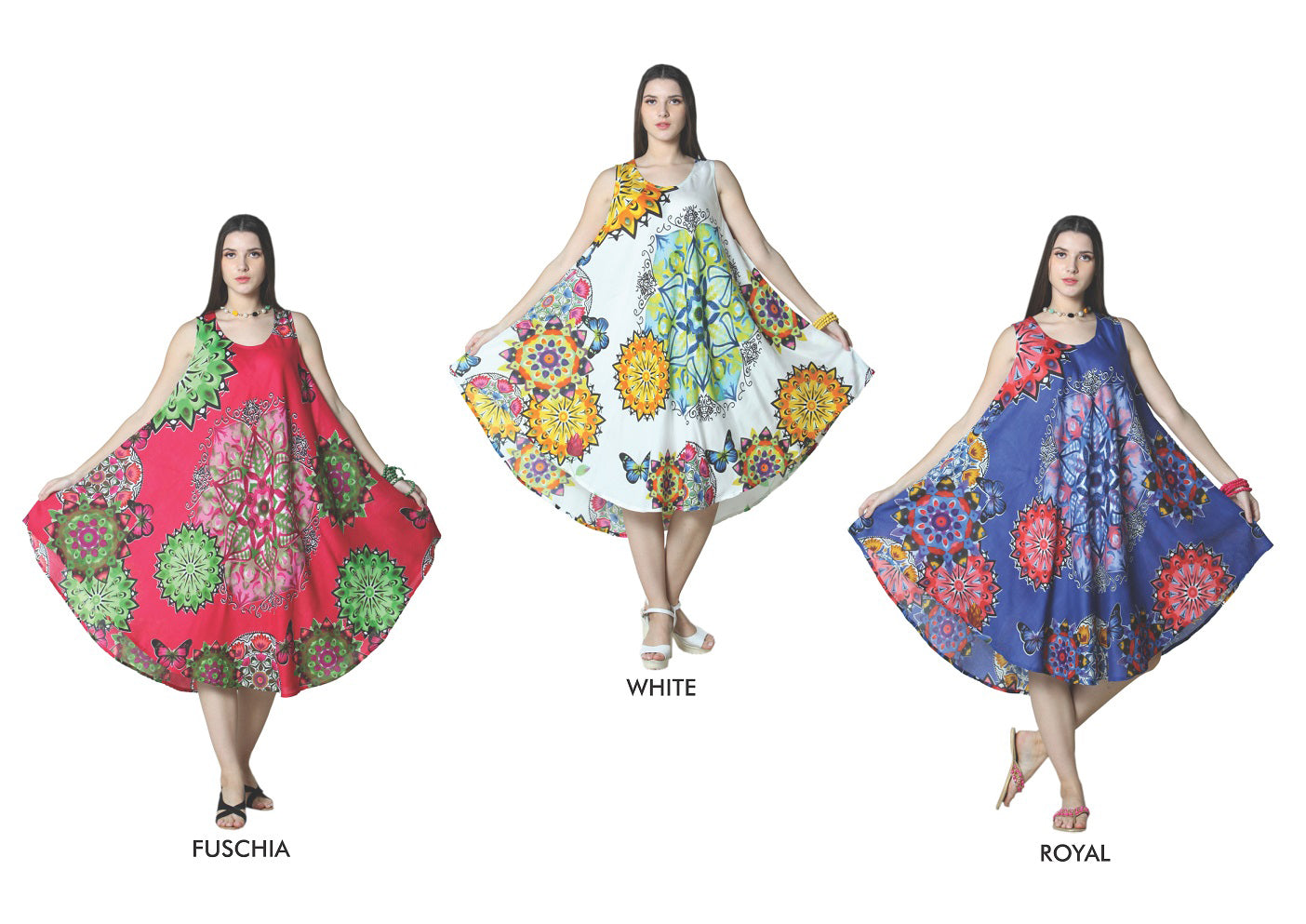 Wholesale Bulk Pack Rayon Printed Dye Dress-GDP4458