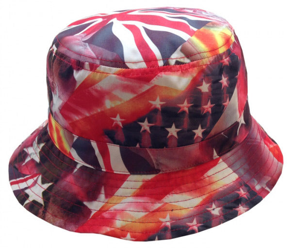 Wholesale Bulk Pack Multi Flag Reversible Bucket Hats-GDP400