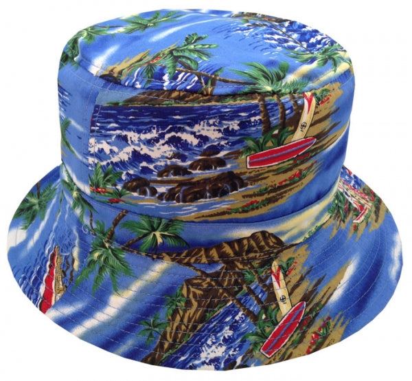 Wholesale Bulk Pack Tropical Print Reversible Bucket Hats-GDP349