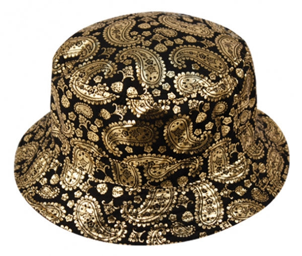 Wholesale Bulk Pack Paisley Print Reversible Bucket Hats-GDP393
